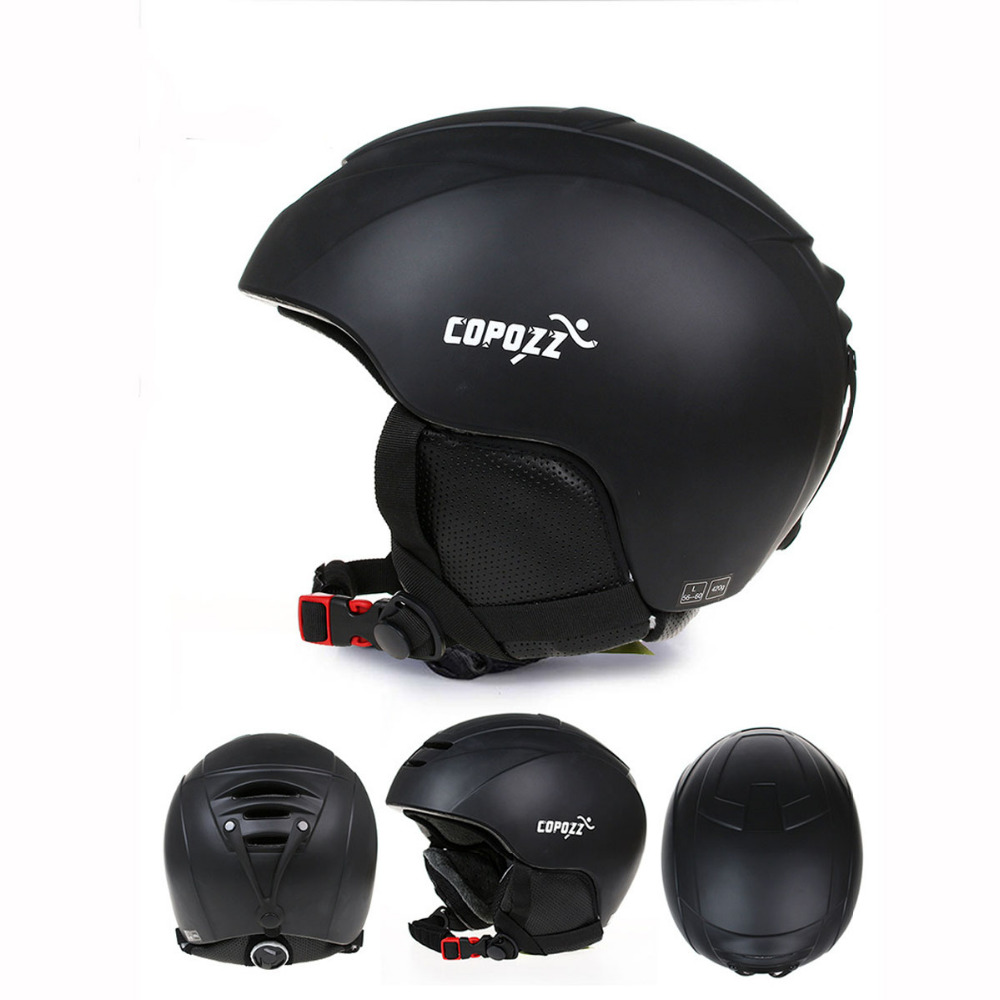 COPOZZ Brand Universal Ski Helmet Integrally-molded Snowboard Men Women Skating Skateboard Skiing Half-covered Helmets 53-59cm free shipping new brand ski helmet with abs shell snowboard protection snowboardig skiing helmet with mirror for men women
