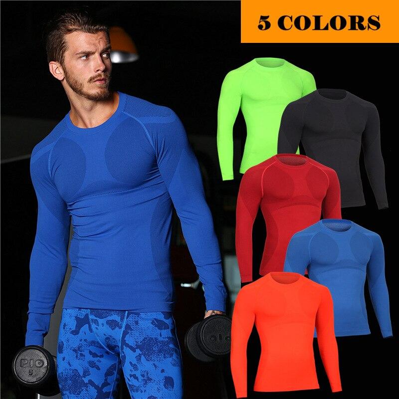 2017 new Summer autumn Men short sleeve Breathable quick dry shirt warm thermal High-Elastic tank thigh undershirts shaper