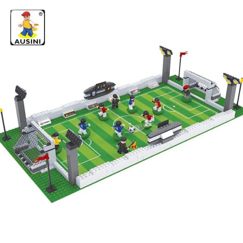 381Pcs Boy Sport Building Blocks Legoing Football World Cup 3D Construction Soccer Figures Toys for Children Christmas Gift стоимость