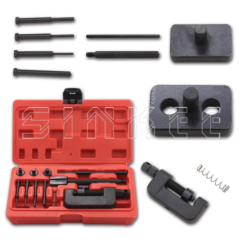 13PC Chain Cutter Rivet Tool Set Riveting Breaker ATV Bike Motorcycle Cam Drive SK1082