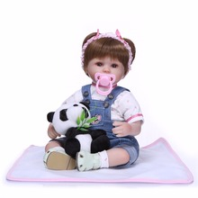NPK 18inch 43cm realistic lifelike reborn baby doll bebes reborn doll playing toys for kids Christmas Gift soft silicone dolls