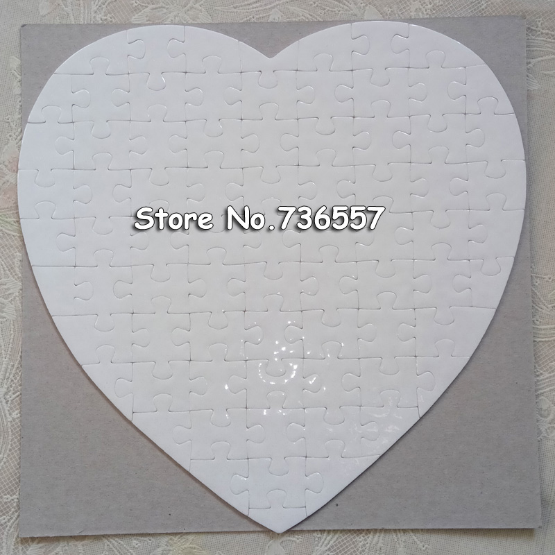 2015 blank heart-shaped Sublimation Puzzles blank pearl Jigsaw free shipping 15pcs/lot