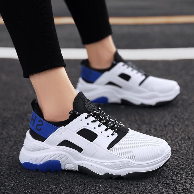 Footwears Sneakers white Extérieur Casual Tourisme Homme white b Pour Nouveau automne y Beige Chaussures up Chaussure Dentelle Hommes 2018 Mode Printemps Style PWOqf77aU