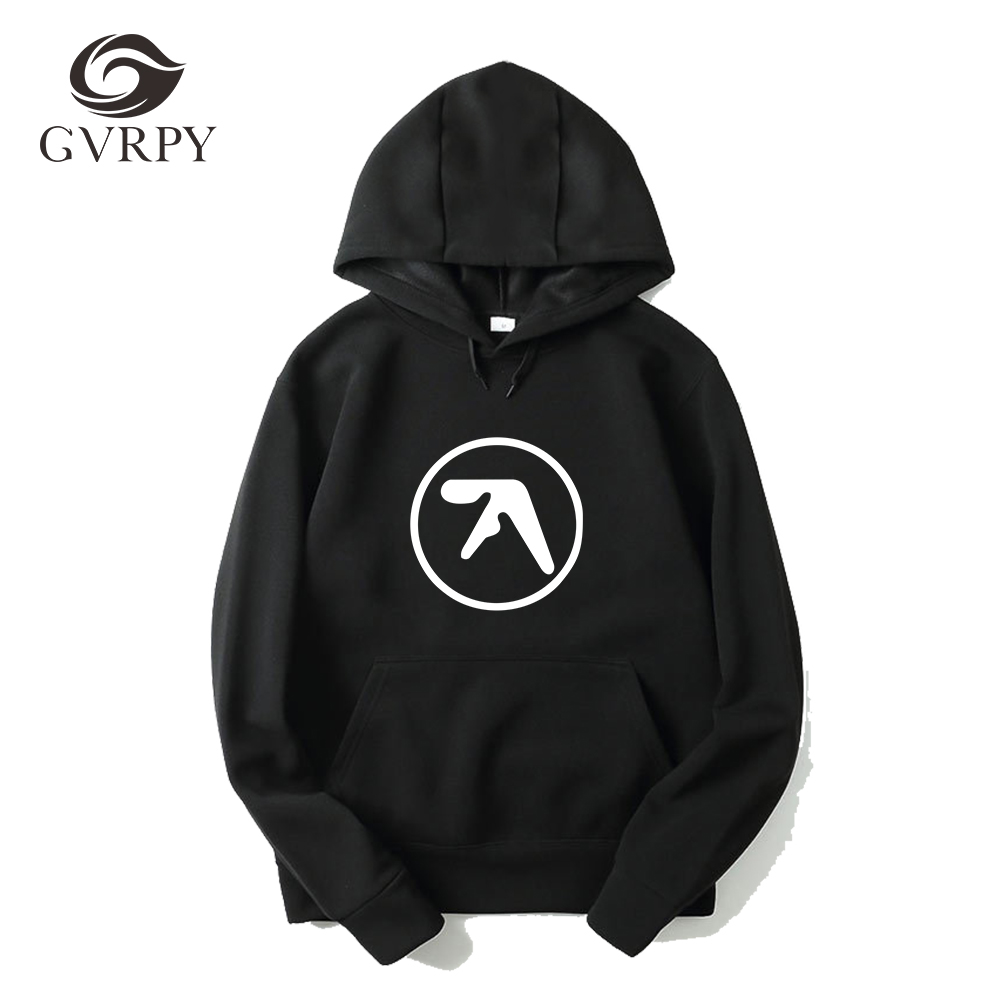 Fashion Men Aphex Twin Hoodies Popular Aerosmith Printing Kpop Hoodies Black Gray White Music Sweatshirts Plus Size XS-3XL Hoody