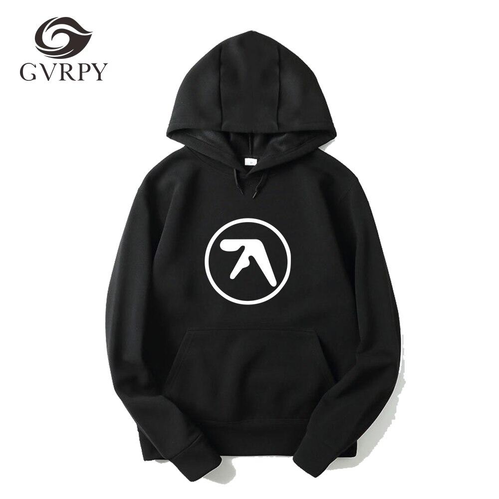 Fashion Men Aphex Twin Hoodies Popular Aerosmith Printing Kpop Hoodies Black Gray White Music Sweatshirts Plus Size XS-3XL Hoody