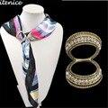 Стюардесса Шарф Пряжки Брошь Классические Украшения Роскошный Корейский Новая Мода Рыло Crystal Ювелирные Изделия для Женщин