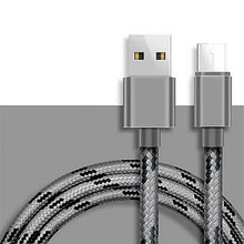 Nylon Fast Charging Cable Micro USB Sync Data Cables for Samsung Huawei Xiaomi 8 9 Redmi Note4 5 Android Plug Phone Charge Wire(China)