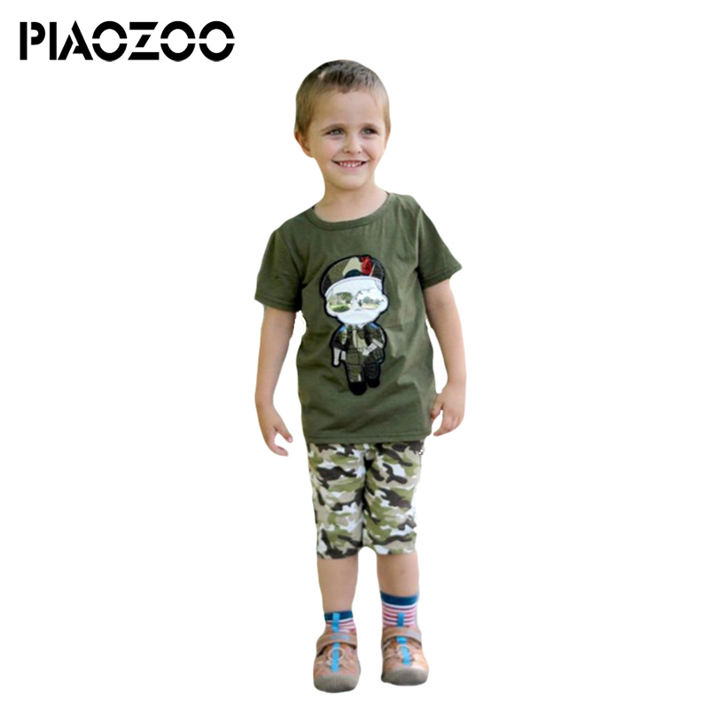 Camouflage boys clothing kids fashion 2018 kids sport suits boy two pieces set tank top short for summer halloween outfits P25
