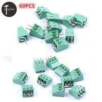 30PCS 2 Poles 2Pin And 30PCS 3 Poles 3Pin 2 54mm PCB Universal Screw Terminal Block