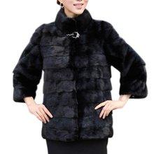 Winter Fashion Women Coat High-grade Elegant Women Solid Coat Long Sleeve Rabbit Fur Coat Plus Size Female Outerwear S4