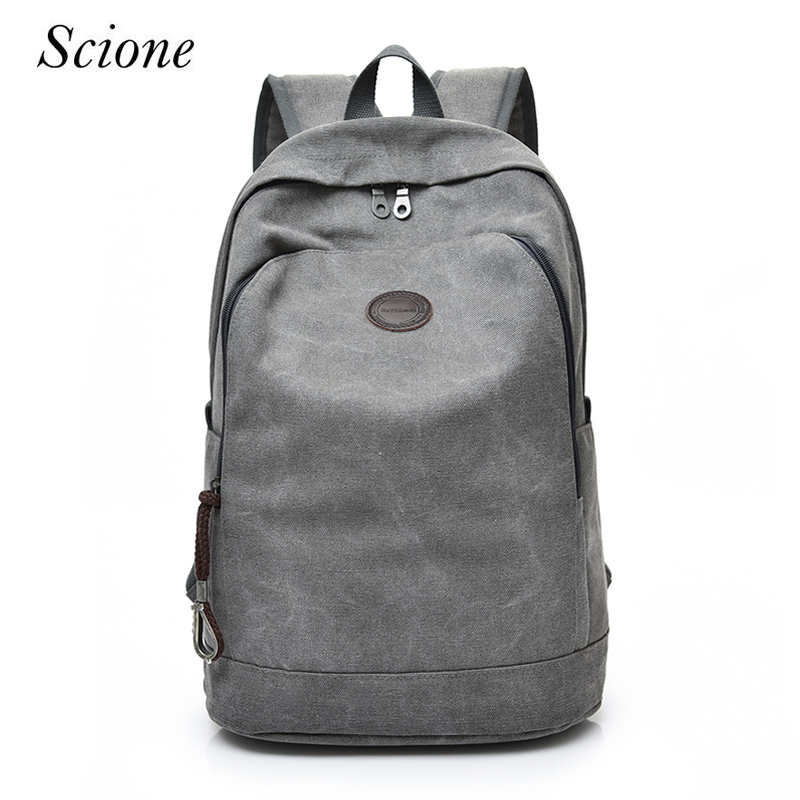 Scione New Men Canvas Backpack Large School Bags For Teenagers Boys Girls Travel Laptop Leisure Travel Backbag Mochila Rucksack