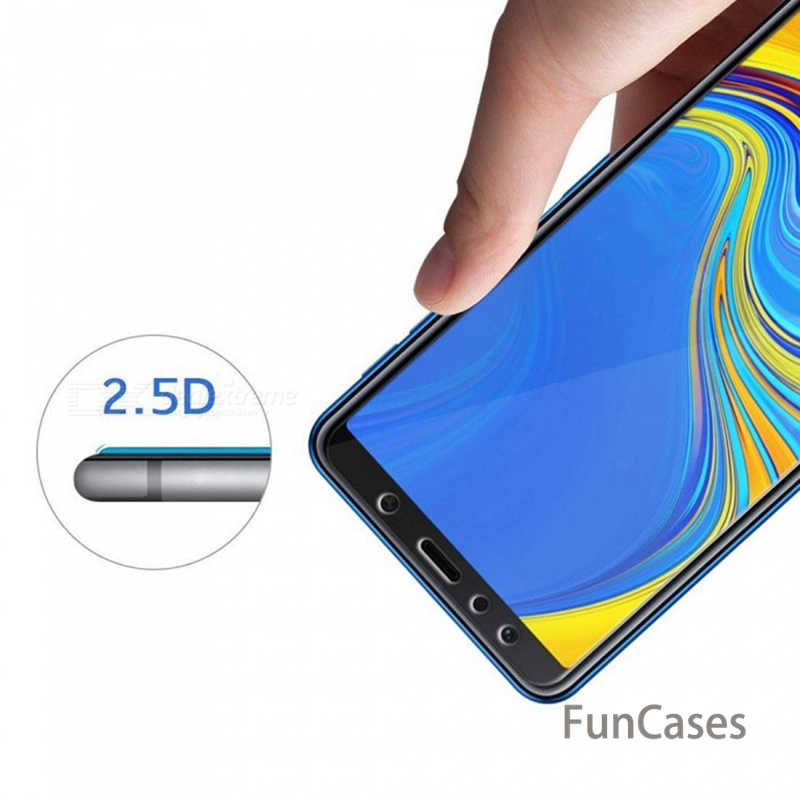 Protective Glass For Samsung Galaxy A7 2018 Case Cover Tempered Glass on For Samsung A7 2018 A6 A8 Plus A730 A 7 A750 7A 6A Film