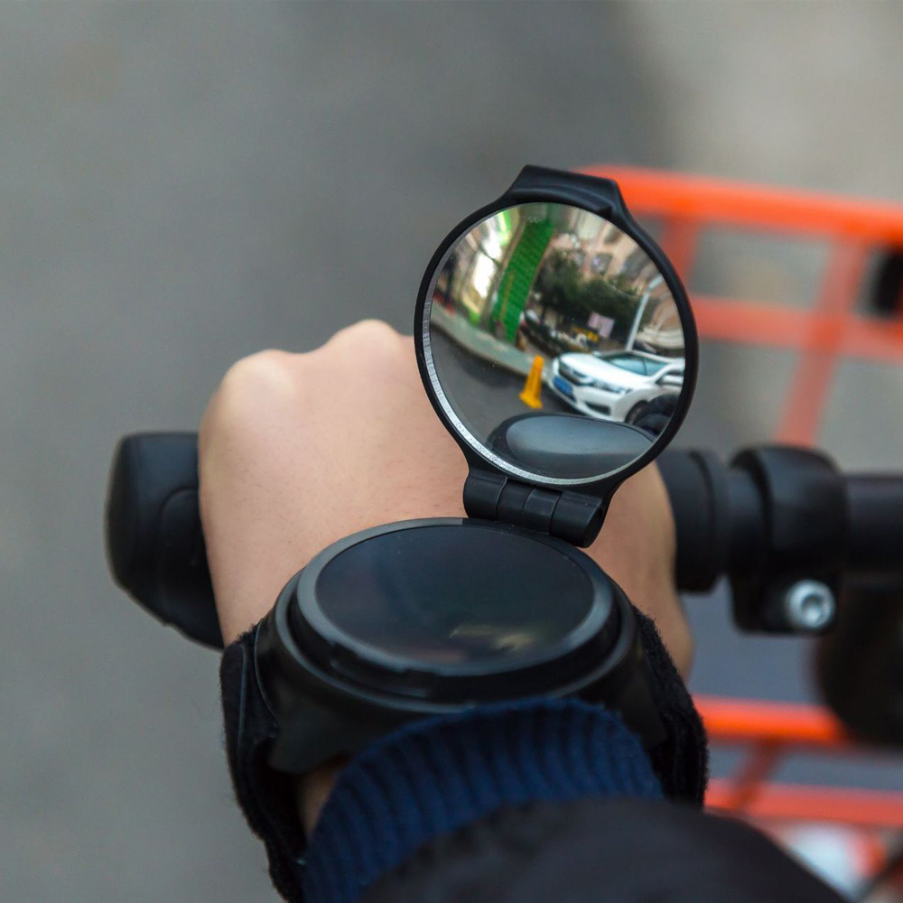Newest Bicycle Bike Back Mirror Cycling Wrist Band Strap Reflex Rear View Rearview Arm Wrist Bike Mirrors HAND free shipping
