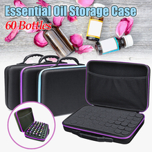 Hot 60 Compartments Essential Oil Storage Bag Portable Travel Essential Oil Bottle Organizer Women Perfume Oil Collecting Case