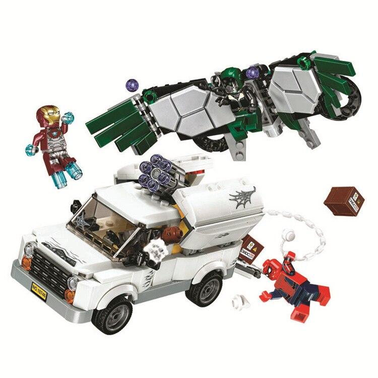 NOUVEAU SpiderMan Heros Homecoming Blocs de Construction DIY Briques jouets Educatifs cadeau Compatible Avec LEPIN 76083