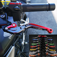 For Honda CB300R CB 300R 2019 Red+Titanium CNC Adjustable Motorcycle Folding Extendable Motorcycle Brake Clutch Levers
