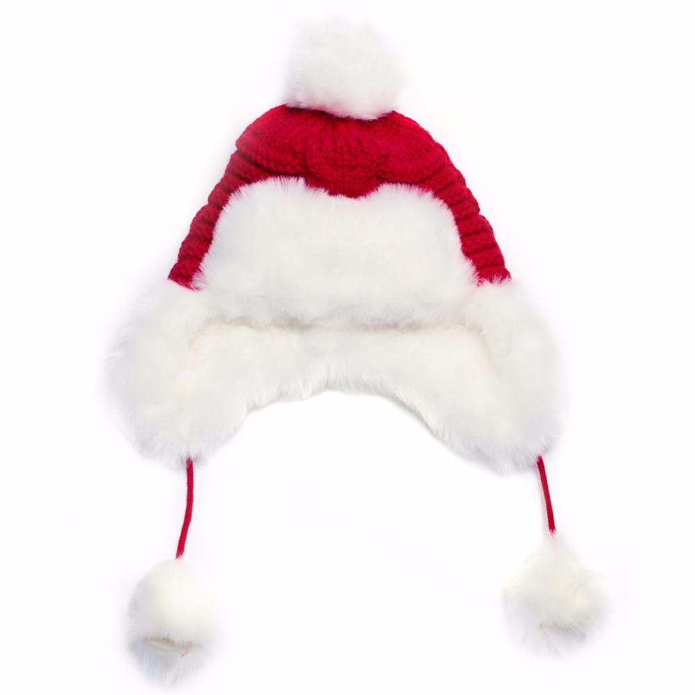 Woman Beanie Knitting Hat 2016 Happy Christmas Hats Bonnet Ladies Pompom Fur Snow Warm Skullies New Women\'s Winter Accessories (12)