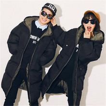 Lovers Padded 2016 Casual Loose Plus Size Wadded Jacket Cotton Padded Jacket Long Parka Hooded Down Coat Winter Jacket Women
