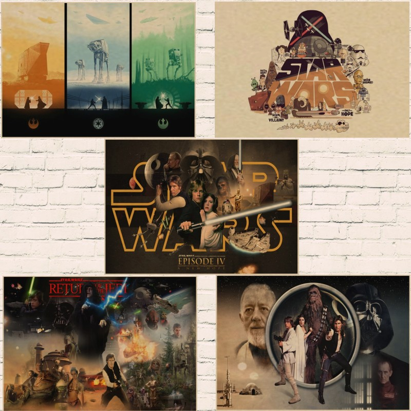 Star Wars Episode Iv A New Hope Movie Retro Poster Kraft Paper Wall Sticker Bar Cafe Living Room Buy At The Price Of 1 67 In Aliexpress Com Imall Com