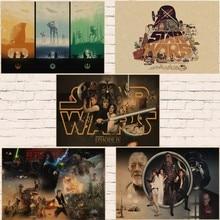 Star Wars Episode IV - A New Hope movie retro poster kraft paper wall sticker Bar Cafe living room