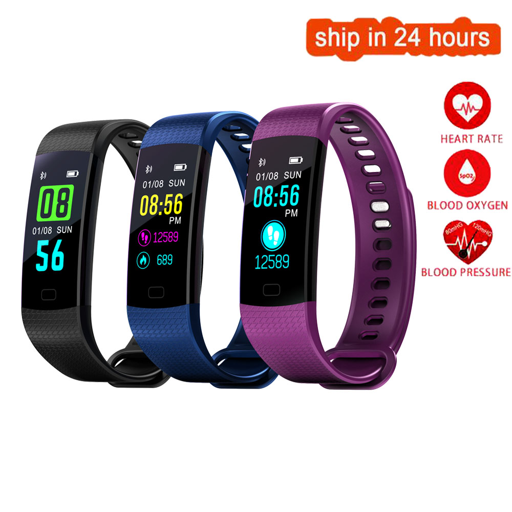 K26 Color Screen Smart Wristband Sports Bracelet Heart Rate Blood Pressure Oxygen Fitness Tracker for Huawei Ascend P9 P10 Plus цена
