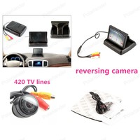 4.3 inch Foldable Car Monitor with 8 LED Reversing Rear View Camera Parking System
