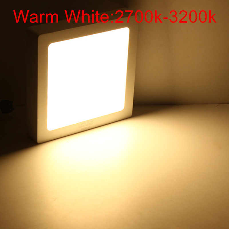 LED Surface Ceiling Light 9W 15W 25W Ceiling Lamp AC85-265V Driver Included Round Square Indoor Panel Light For Home Decor