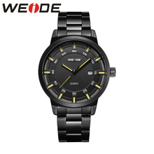 WEIDE stainless steel men's watches luxury brand Clock automatico men watches  waterproof sport Analog Quartz watch casual Black weide steel series watches 2017 luxury brand sport led digital shockproof waterproof watch black quartz watches role clock 6102