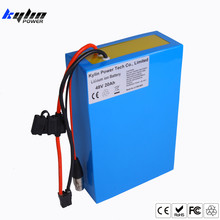 Original 48V 20AH Lithium ion Electric Scooter Bike Battery for Li-ion Ebike 750W 1000W Bicycle Motor & 30A BMS 54.6V 2A Charger(China)