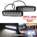 2 pcs 18W Spot LED Work Light for Car Truck Boat Driving Fog Offroad SUV 4WD Bar
