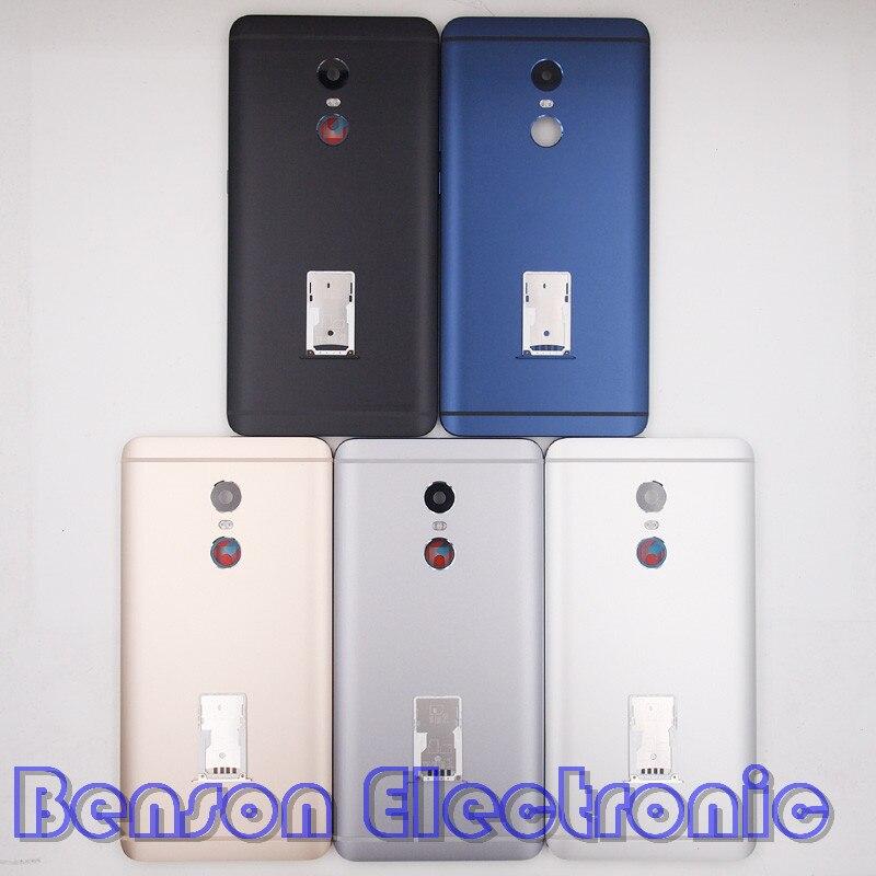 imágenes para BaanSam Nueva Batería Volver Cubierta de la Bandeja de la Tarjeta SIM Ranura Para Xiaomi Redmi Nota 4 Caso de Vivienda Con Botones de Volumen de Energía