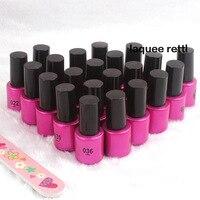 22 pçs/set de longa duração Soak Off Gel polonês Top Coat + Primer 8 ml UV Gel Nail Art Manicure120 lindo cores