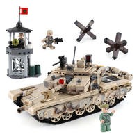 XINGBAO 06021 1340PCS Military Series The 99 Tank Set Model Building Blocks Bricks Tank Car Model Kid Educational Toys Gifts
