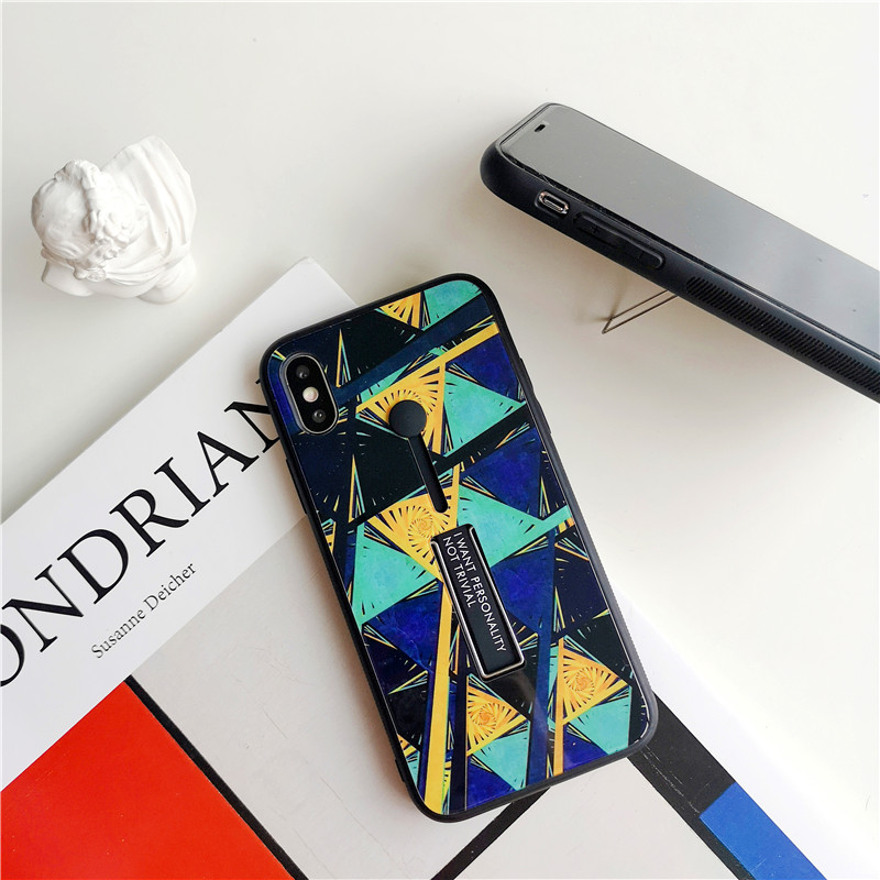 Phone Cases for iPhone Xs max XR X 8 7 6 6s plus abstract geometric graffiti