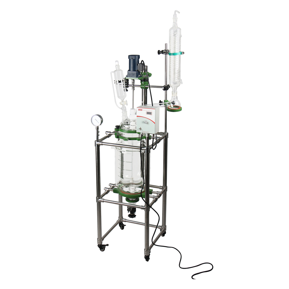 10L Pilot Plant Jacketed Glass Reactor Fully Customizable