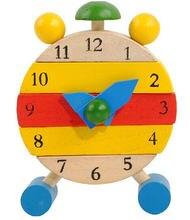 Новые деревянные игрушки съемные часы Детская развивающая игрушка