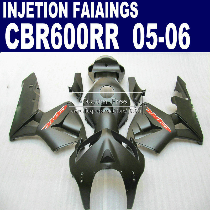 Injection factory  kit for Honda matte black CBR600RR fairing CBR 600RR 2005 2006 CBR 600 RR 05 06 fairings motorcycle parts