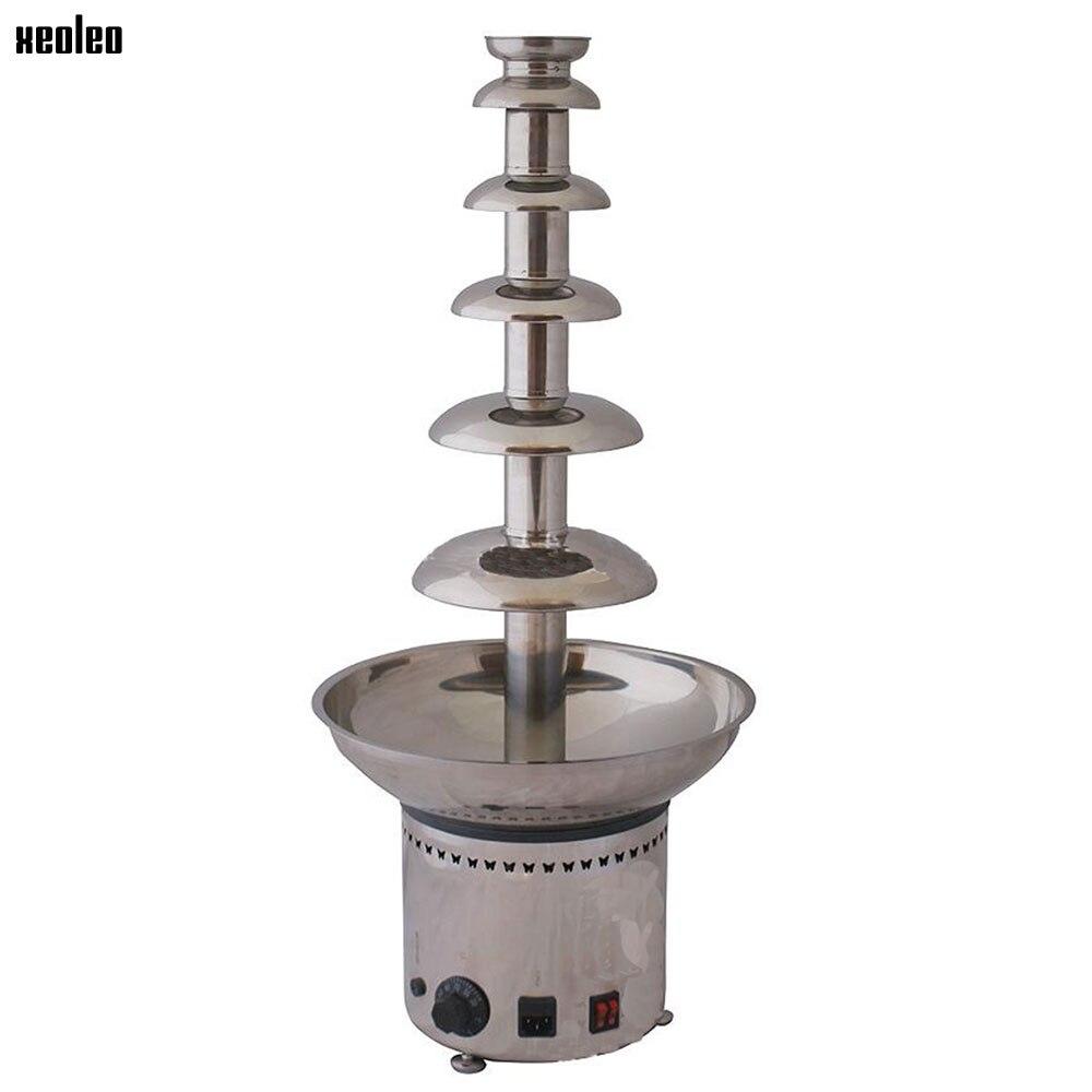 XEOLEO 6-couche 82 CM fontaine commerciale chocolat mélangeur fontaine cascade ragoût Pot pâte Machine de fusion automatique tour de fusion
