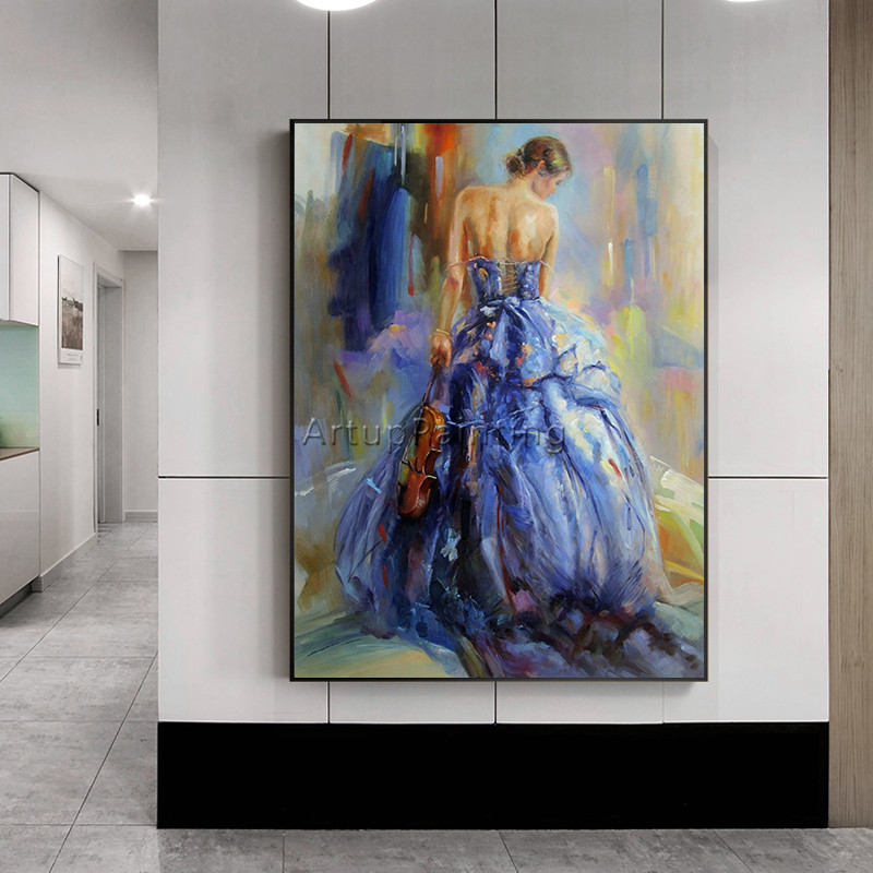 Oil painting on canvas Spanish Flamenco Dancer painting latina woman caudros decoracion wall art pictures for living room decor2