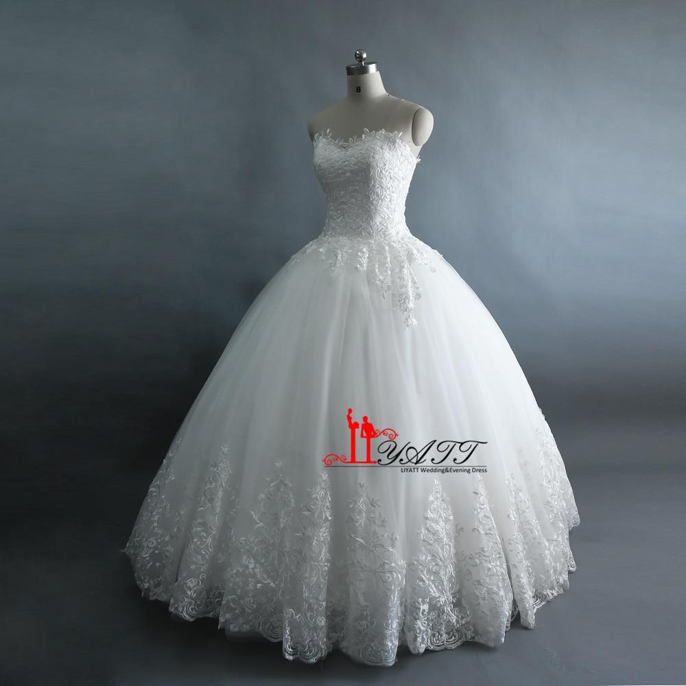 7b1b7b0a230 LIYATT 2017 Real Photo Amazing Extra Puffy Ball Gown Luxury Arabic Vintage  Lace Lace Up High Quality Wedding Bridal Dress-in Wedding Dresses from  Weddings ...