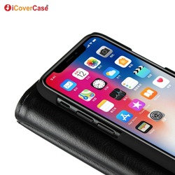 Multifunction Leather Wallet Case For iPhone X Case Cover With Card Pocket Photo Frame Cover Cases iPhone X iphonex Luxury Case 5