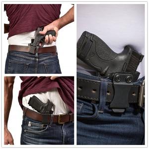 Image 5 - Wewnątrz paska kabura pistoletu IWB Kydex do Taurus PT111 PT140 G2 Millenium G2C Glock 19 23 25 32 ukryte przenoszenie