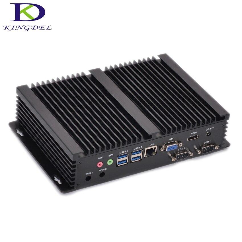 Core I3 5005U Fanless Mini Industrial PC 4K HD 3D Blu-Ray HTPC Windows Mini Desktop Computer USB 3.0 Small Size HDMI VGA SSD+HDD