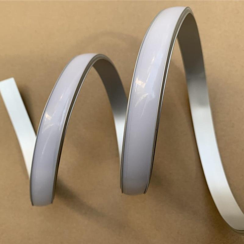 1 m/pcs profilé Flexible Flexible d'extrusion en aluminium de LED flexible pour le profil Flexible de LED de bande de LED