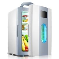 Famous Brand Mini Car Refrigerator 10L Heat Cold Dual Use 12V 220V Mini Home Single Door Home Car Fridge Cooler Box Traval Use