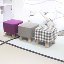 купить wooden square stool living room kids sofa bench wearing shoes stools home cloth art foot stool дешево