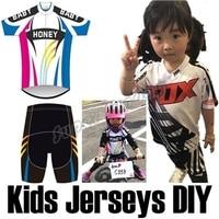 2018 Kids Sports Jerseys Child Cycling Jersey Bike Racing Clothings Winter Thermal Cycling Sets Team Customization KDDD1