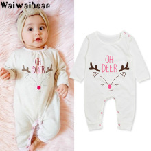 Waiwaibear Newborn Baby Infant  Rompers Boys Girls Long-sleeved Jumpsuit Outfits Cotton Clothes ASL20