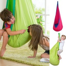 1 Piece Baby Swing Children Pod Hammock Indoor Outdoor Hanging Chair Adult Hanging Seat Chair Nest Blue Green Orange(China)