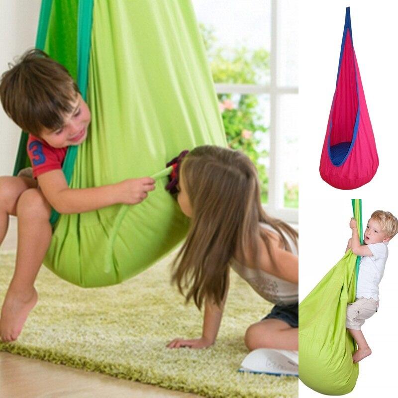 Цельнокроеное платье Детские Качели Детей Pod гамак помещении на открытом воздухе Висит Стул Взрослых висит стул гнездо Синий, зелёный, оранжевый